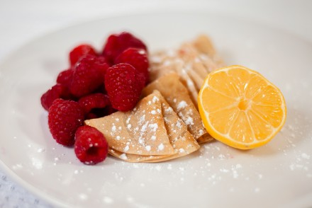 Vegan Crêpes with Raspberries and Lemon