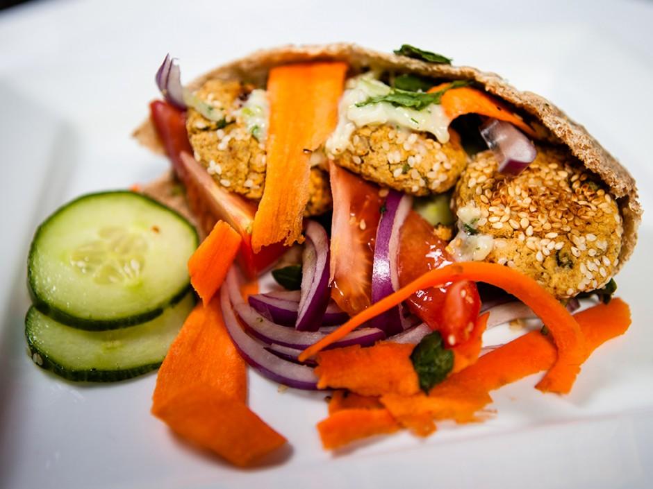 Vegan Baked Falafel