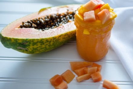 Vegan Papaya Mango Smoothie