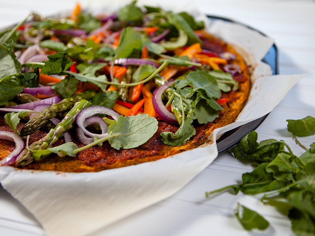 Sweet Potato Pizza with Sun-dried Pesto Sauce Healthy Food
