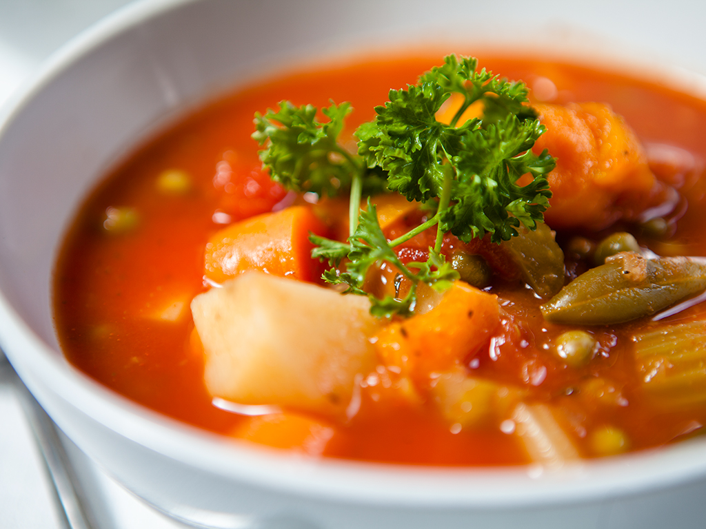 Spicy Tomato Vegetable Soup