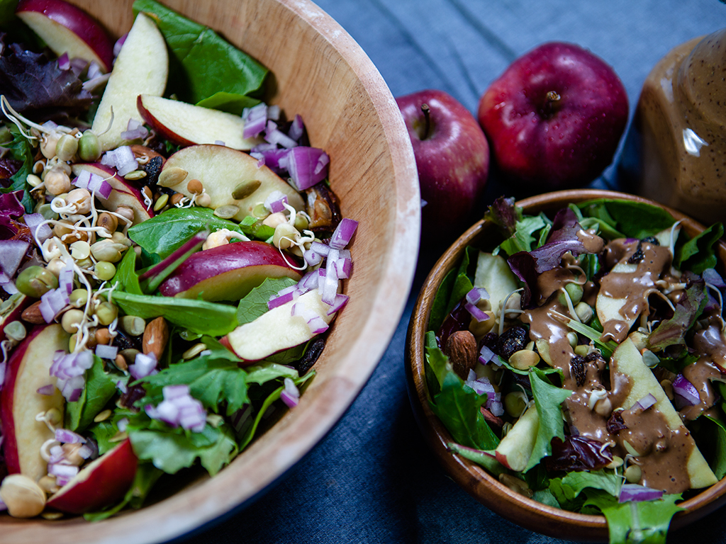 Apple and Date Salad with Honey Dijon Dressing