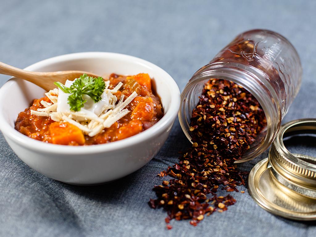Sweet Potato Quinoa & Black Bean Chilli