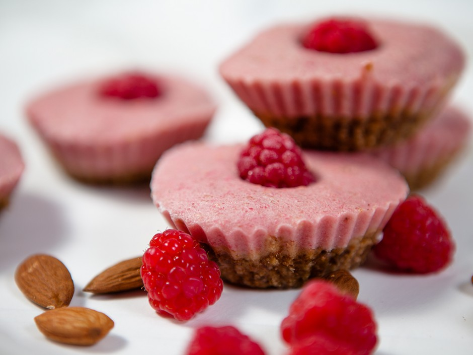 Raspberry Yoghurt Frozen Dessert Treats