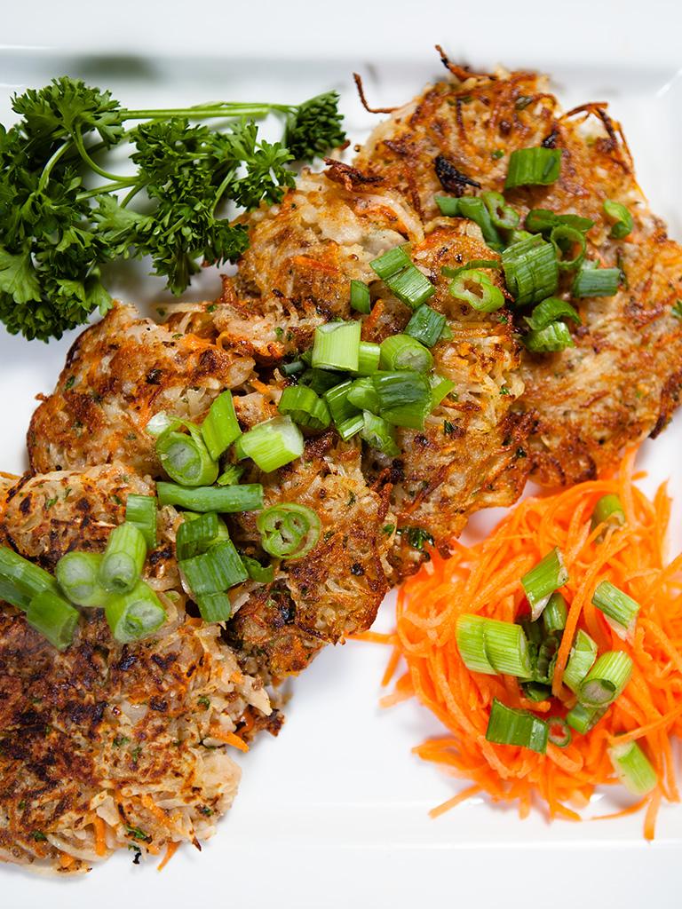 Vegan Potato and Carrot Pancakes