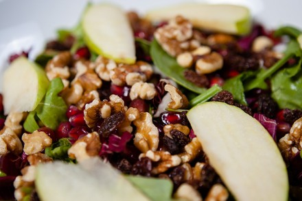 Vegan Pomegranate and Arugula Salad