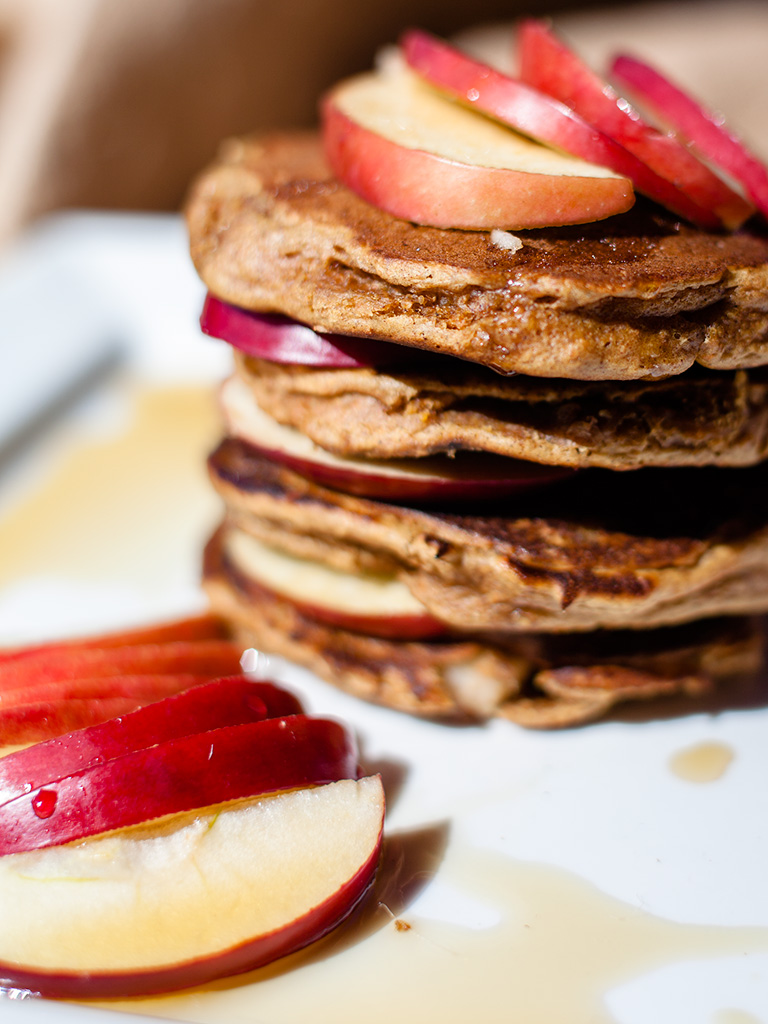 Apple Peanut Butter Pancakes