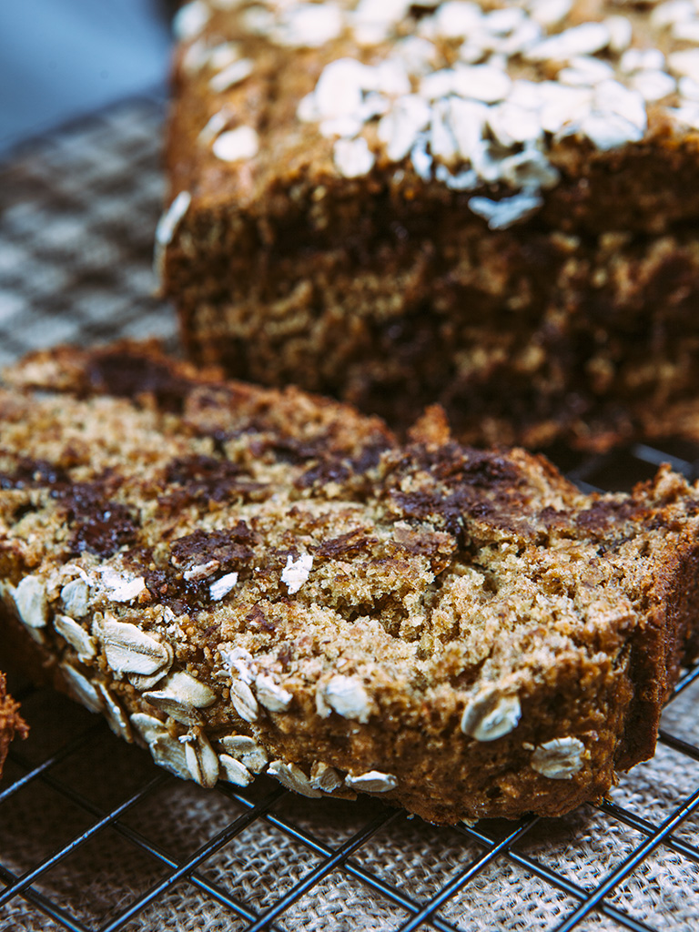 Vegan Banana and Chocolate Chip Bread