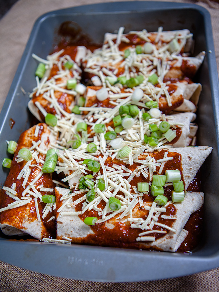 Vegan Black Bean Enchilada