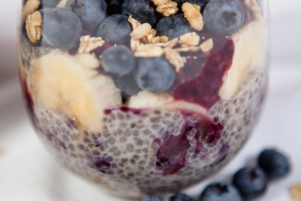 Vegan Banana Blueberry Chia Parfait