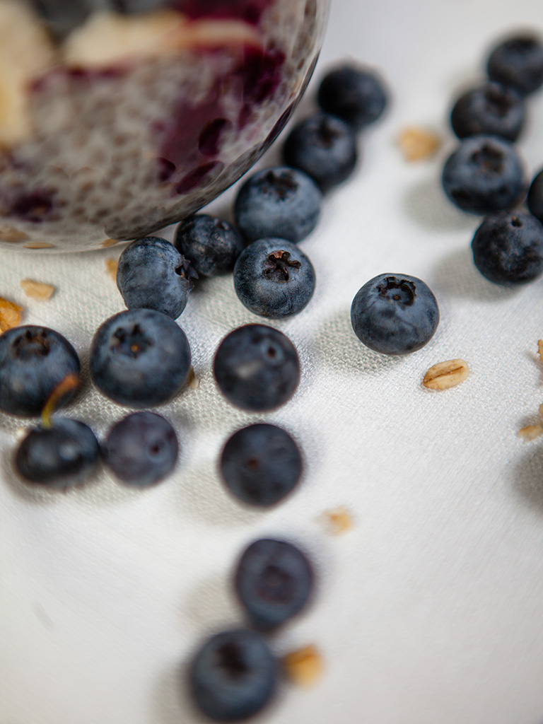 Vegan Banana Blueberry Chia Parfait