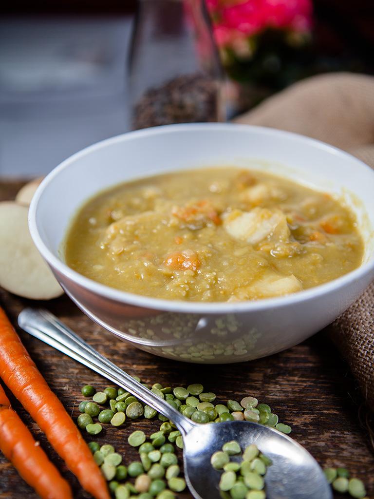 Vegan Chunky Split Pea Soup