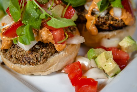 vegan Lentil Mushroom Burgers