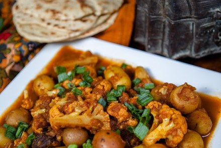 Vegan Potato and Cauliflower Curry