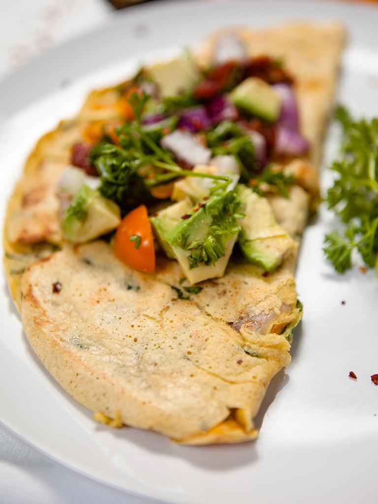 Vegan Spinach Chickpea Omelette