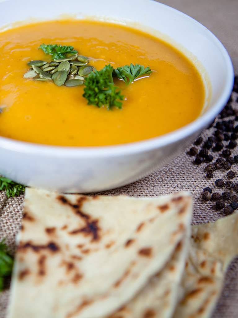 vegan Sweet Potato and Squash Soup