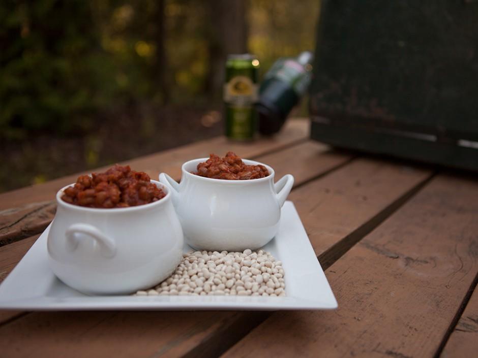Camping Crockpot Beans
