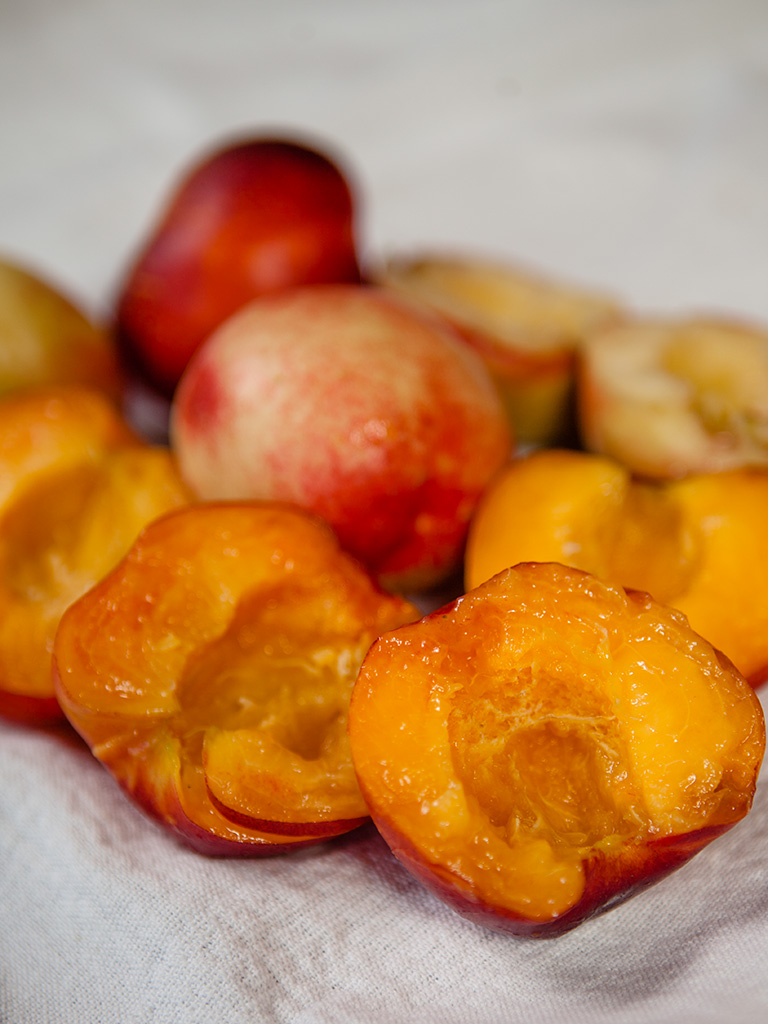 Barbecued Nectarines and Pistachio Salad