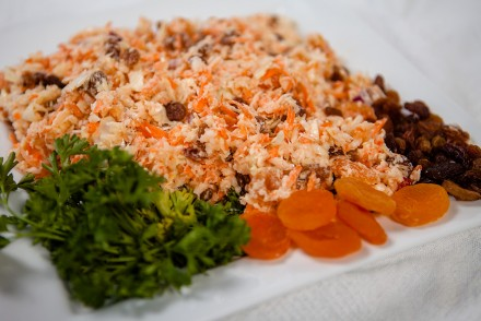 Crunchy Apricot Coleslaw with Tahini Dijon Mustard