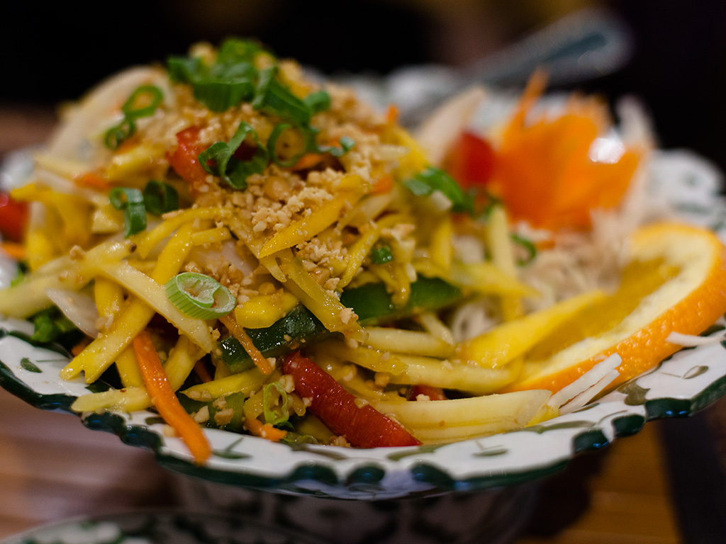 Thai Mango Salad Green Papaya Ottawa