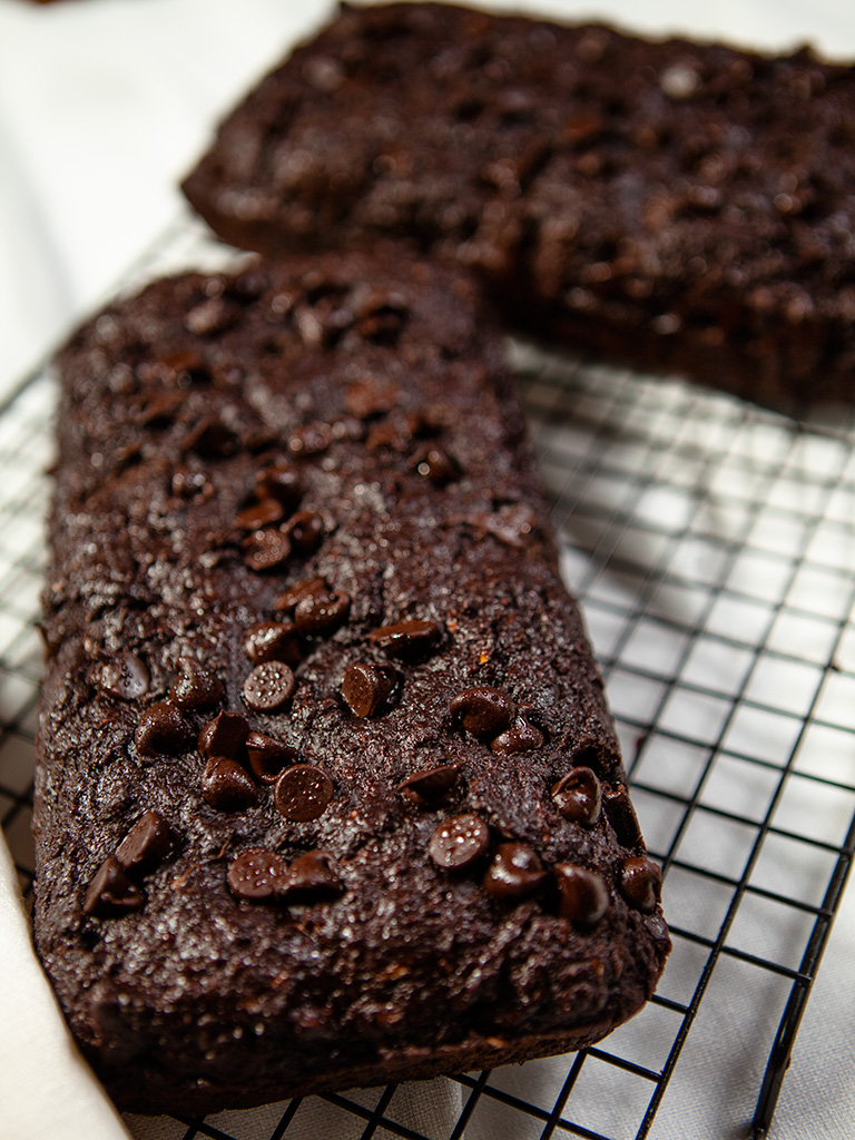 Vegan Chocolate Zucchini Bread