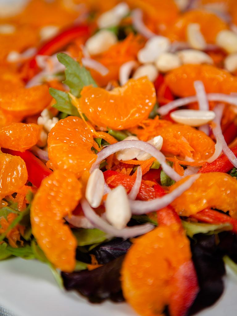 Mandarin Salad with Creamy Almond Dressing