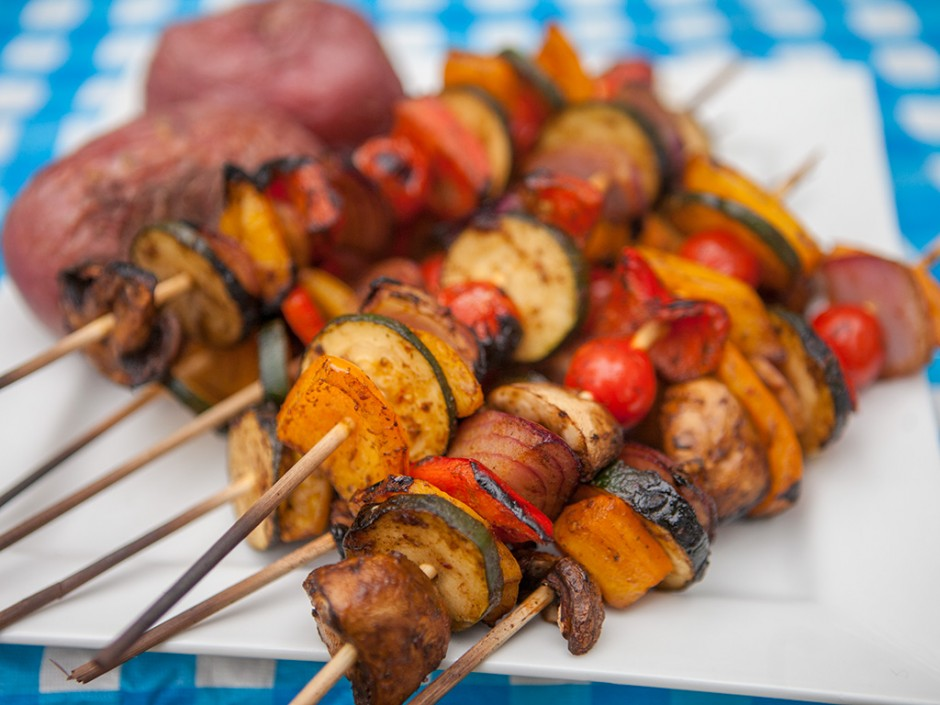 BBQ Veggie Skewer Kebabs