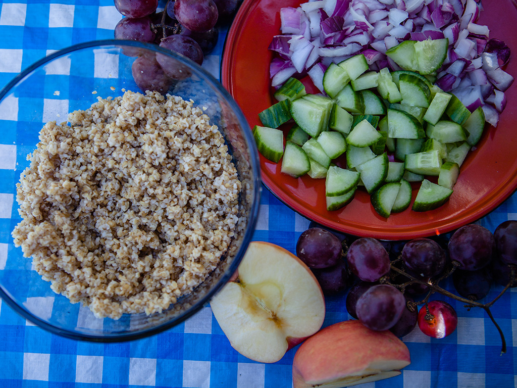 Camping Bulgur and Grape Salad