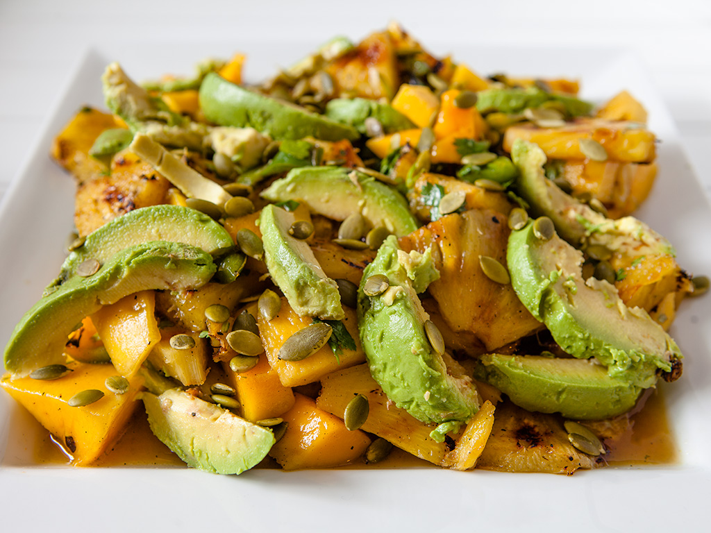 Grilled Pineapple and Jalapeños with Fresh Mango and Avocado – Ripe ...