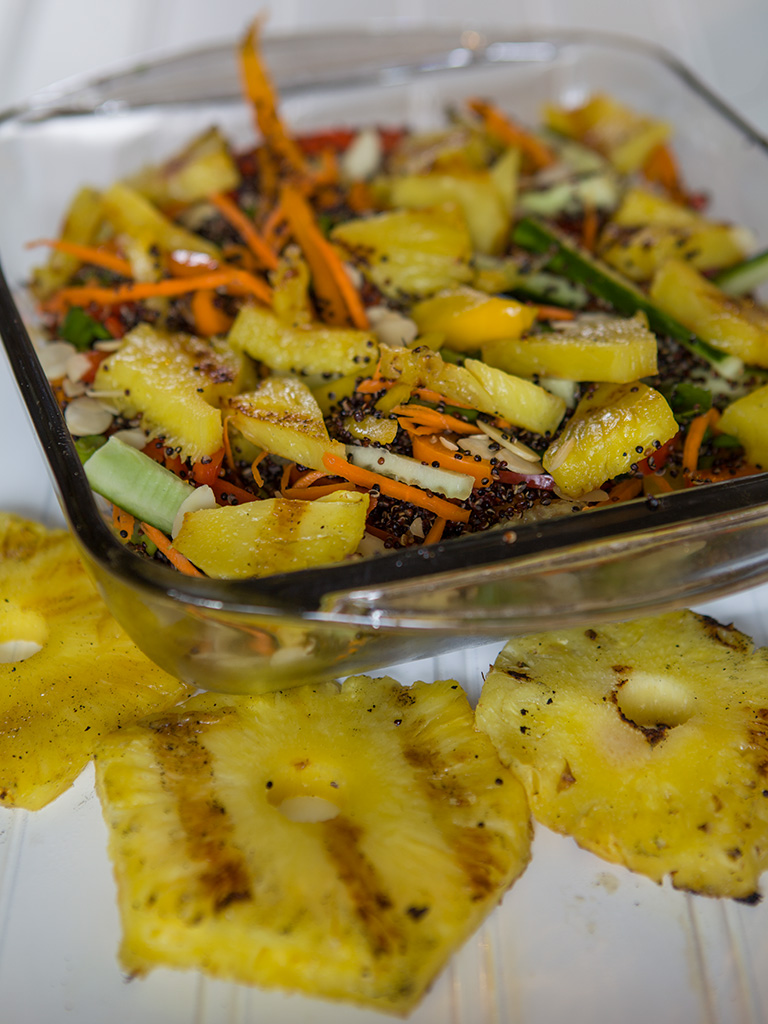 Quinoa and Grilled Pineapple Salad