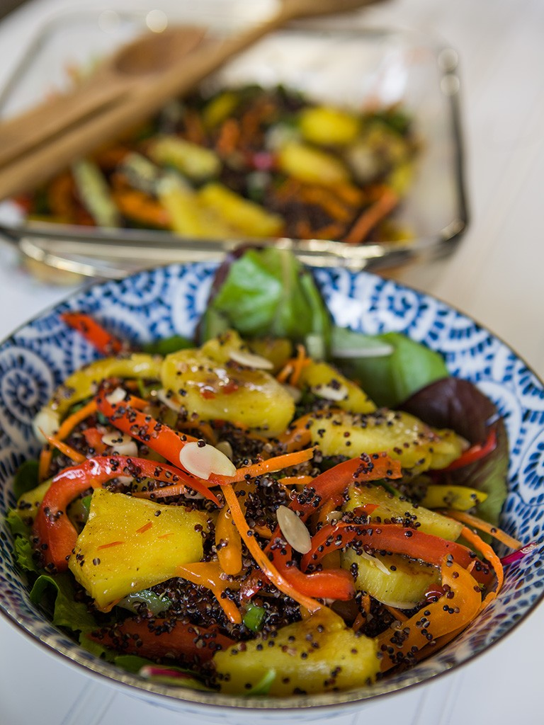 Quinoa and Grilled Pineapple Salad Healthy Food