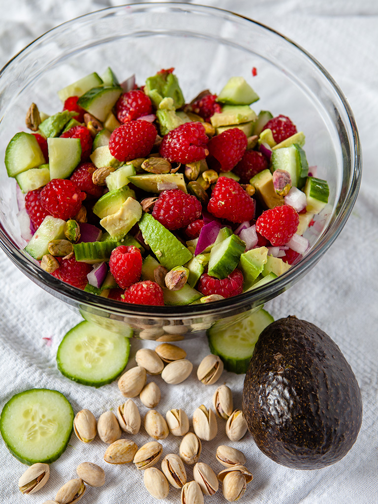 Raspberry and Pistachio Salad