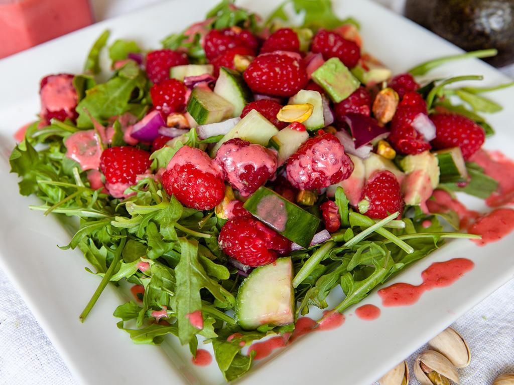 Raspberry and Pistachio Salad