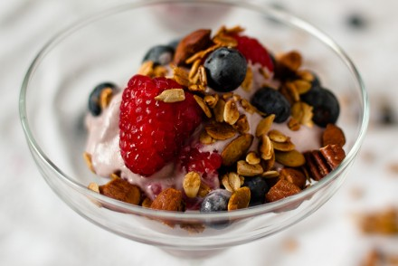 Raspberry Cashew Cream Parfait