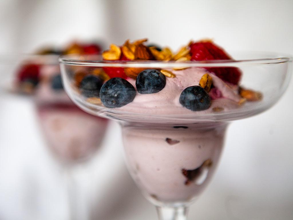 Raspberry Cashew Cream Parfait