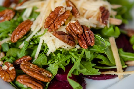 Roasted Beet Arugula Salad