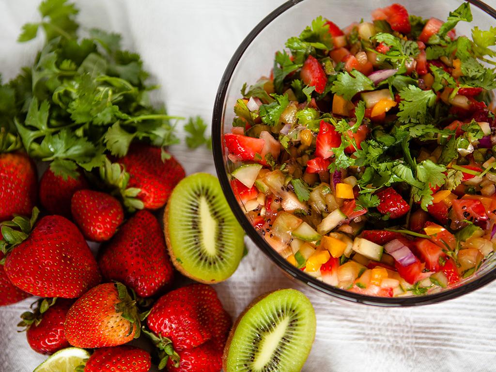 Strawberry and Kiwi Salsa