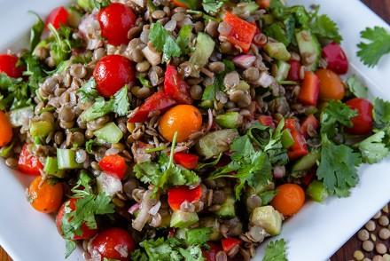 Vegan Vegetable Lentil Salad