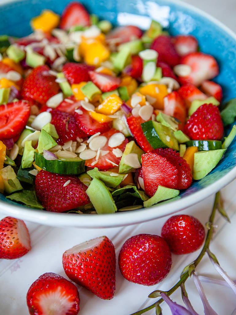 Mango Strawberry Avocado Salad