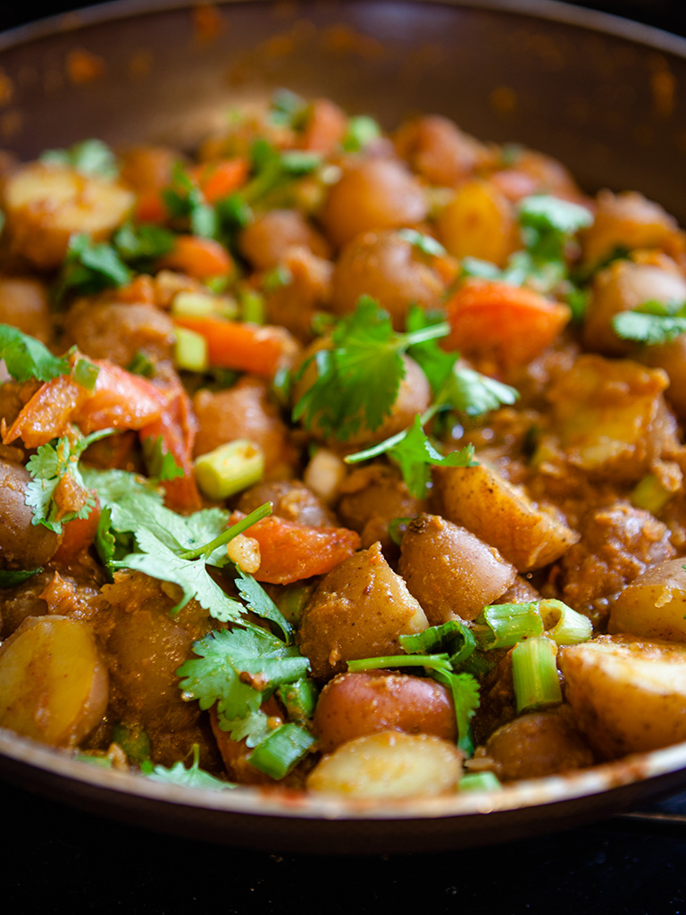 Vegan Bombay Potatoes