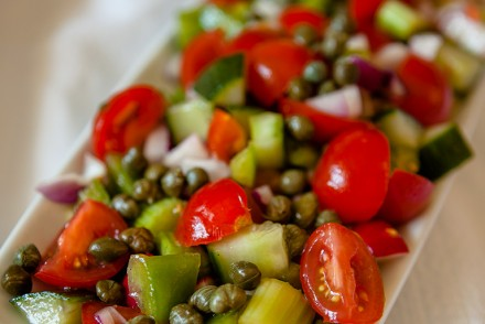 Vegan Tomato and Caper Salad