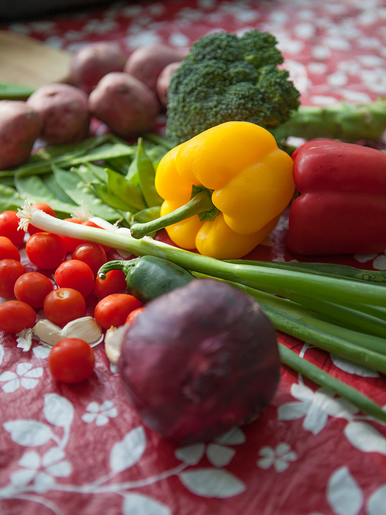 BBQ Potatoes and Vegetable Basket