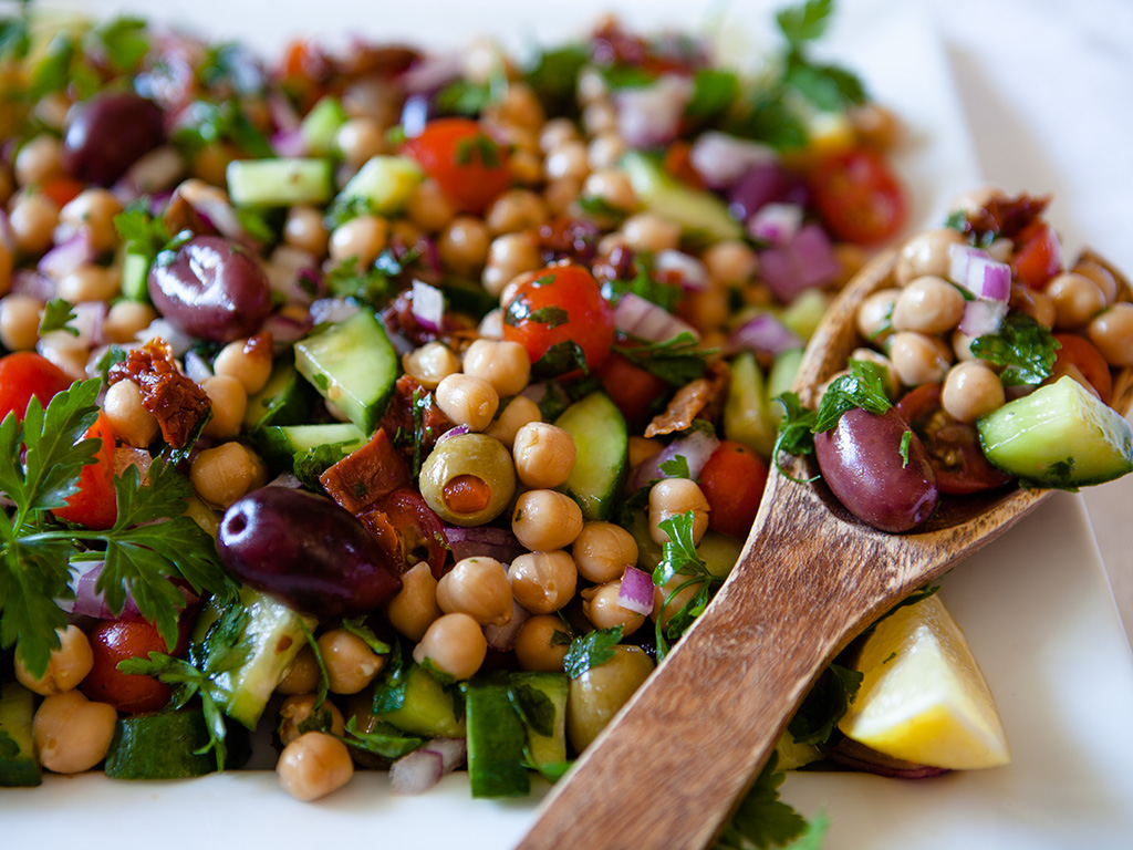 Mediterranean Chickpea Salad – Ripe Life – Celebrating a Happy ...