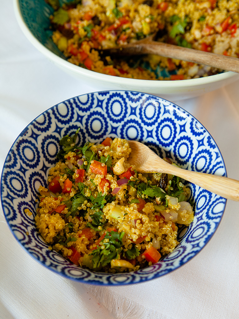 Quinoa Salad with Creamy Coconut Curry Dressing