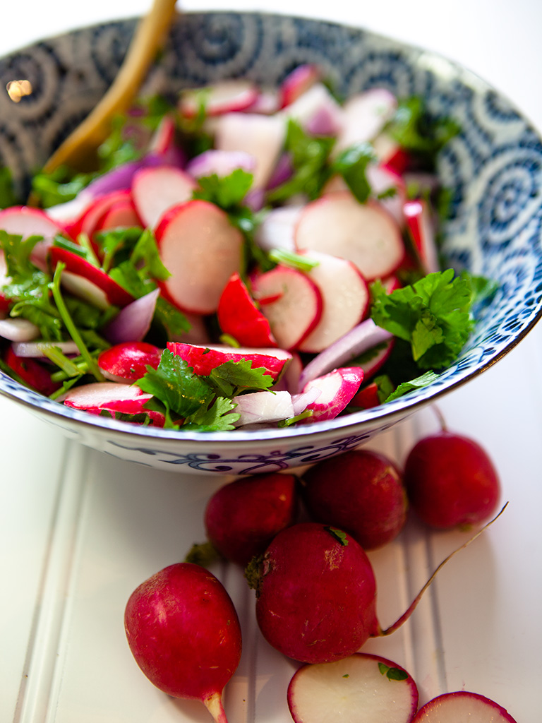 Radish and Cilantro Salad