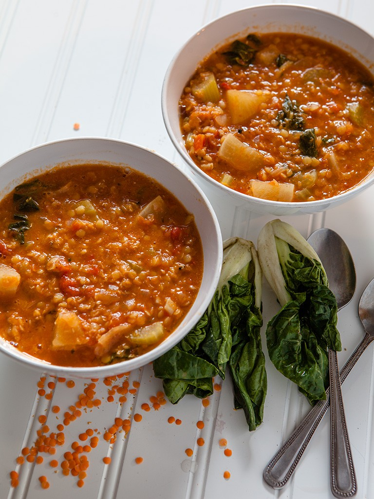 Red Lentil and Turnip Soup Healthy Food