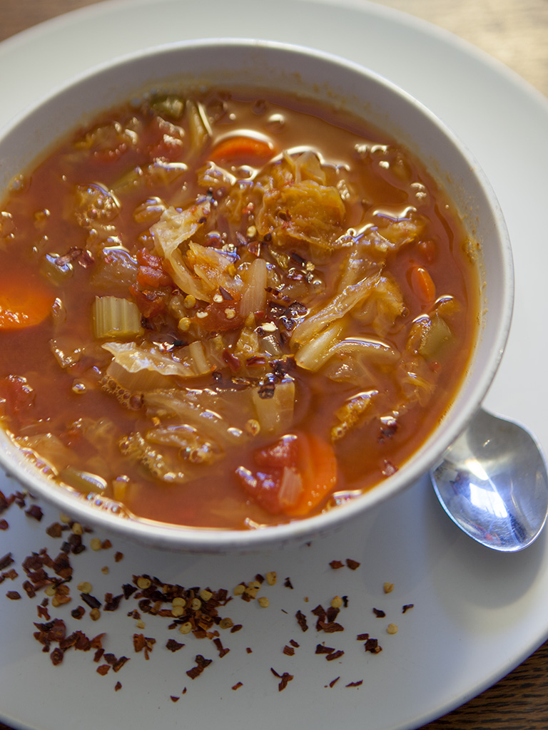 Vegan Carrot and Cabbage Soup