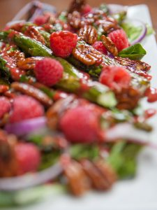 Raspberry and Roasted Asparagus Salad