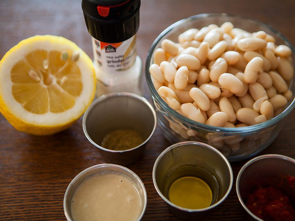 Vegan White Bean Hummus with Spicy Crushed Paprika