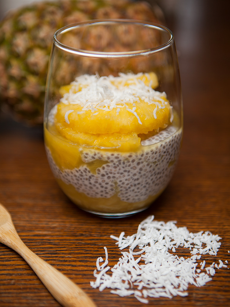 Vegan Pineapple Chia Pudding